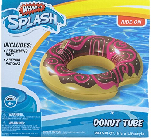Wham-O Inflatable Chocolate Donut Water Tube Pool Float