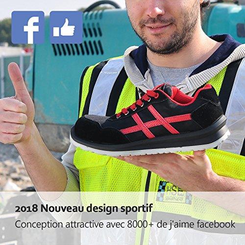 Femme SAFETOE L7329 Chaussure Noir Homme Composite Basket de Lègére en avec Coque Sécurité Et Sécurité de Basket XgX1qw