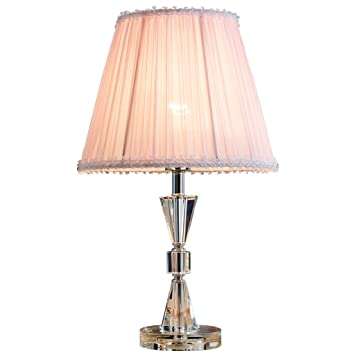 Amazon Com Mlmh Princess Pink Bedroom Crystal Table Lamp Bedside