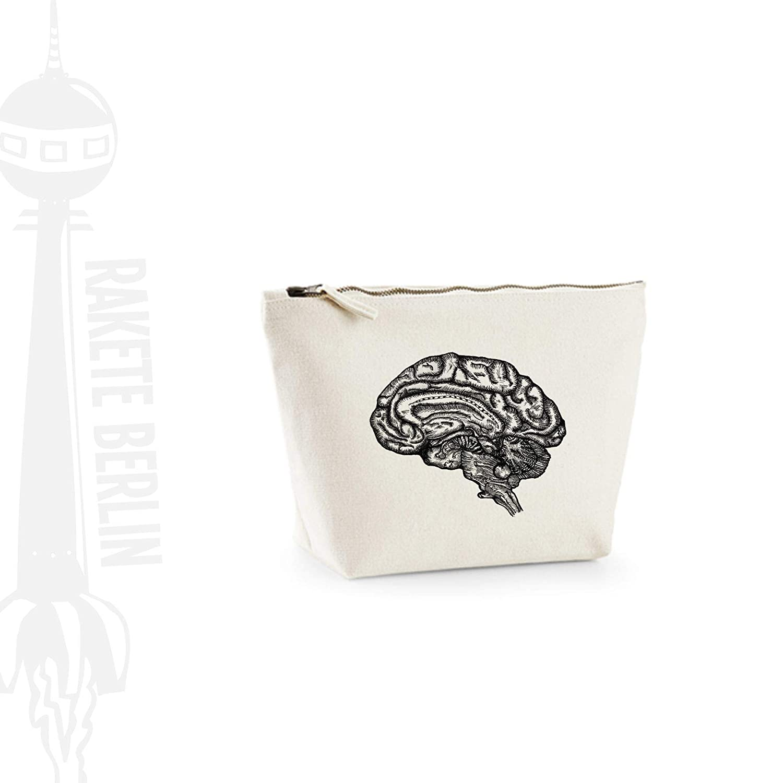 Kosmetiktasche (M)' Gehirn anatomisch ' Baumwoll Canvas