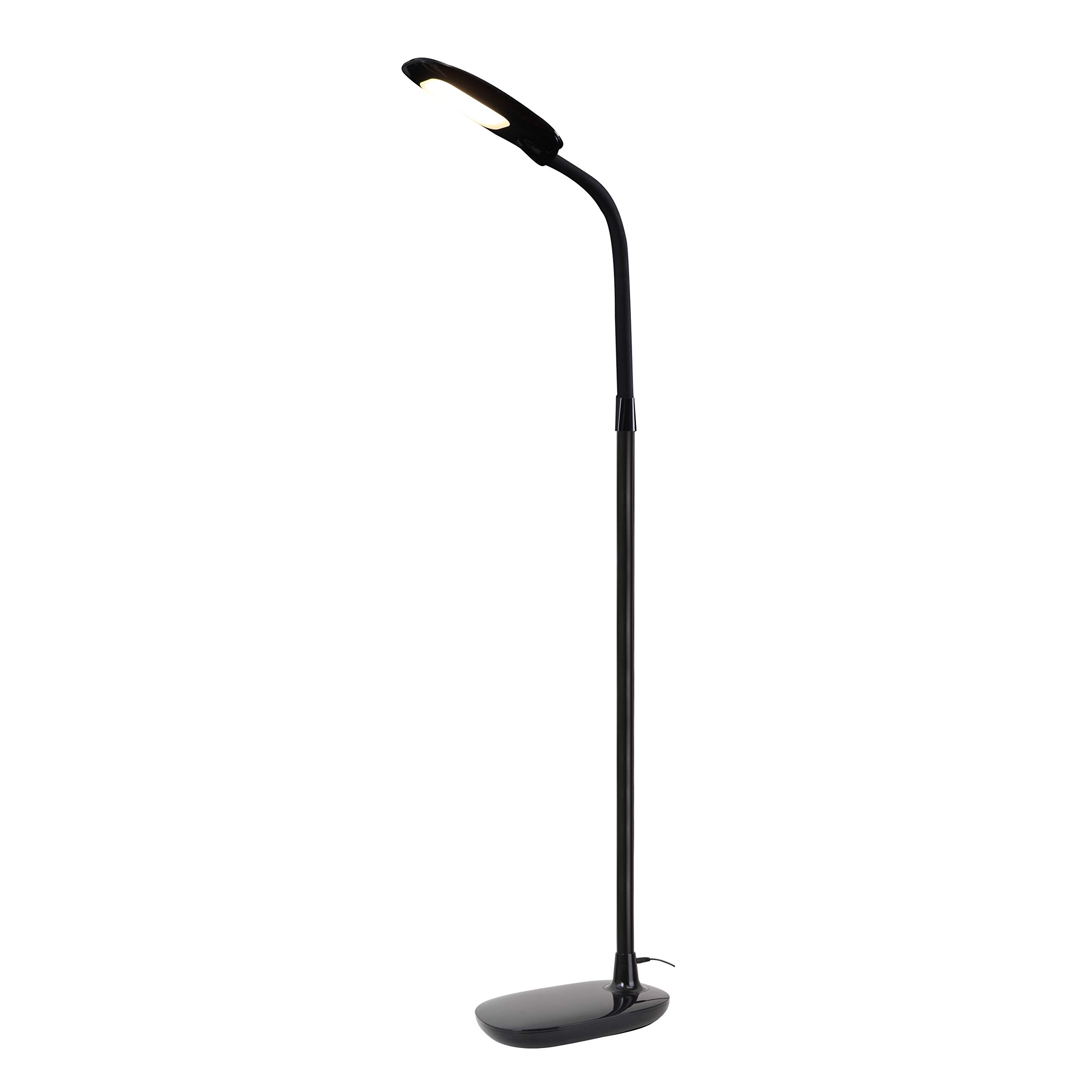 Trae RAFI LED Floor Lamp for Reading - Dimmable Adjustable Gooseneck Standing Lamp, Touch Control 3 Color Modes, 4 Brightness Dimmer Levels, Memory Function Flexible Torchlight Floor Light
