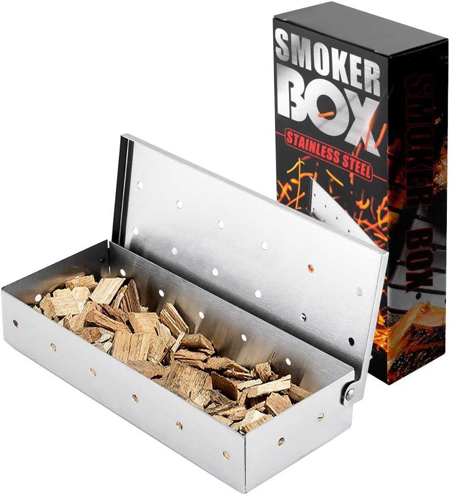 Caja de humo de acero inoxidable, fácil de limpiar para asar ...