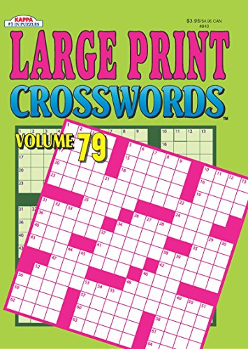 large print crosswords puzzle book volume