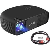 Artlii Proiettore LED, Videoproiettore Full HD 1080p 3200 Lumen, per Ufficio Riunioni Educazione Presentazione, Connessione con TV iPhone Smartphone Tablet PC Computer