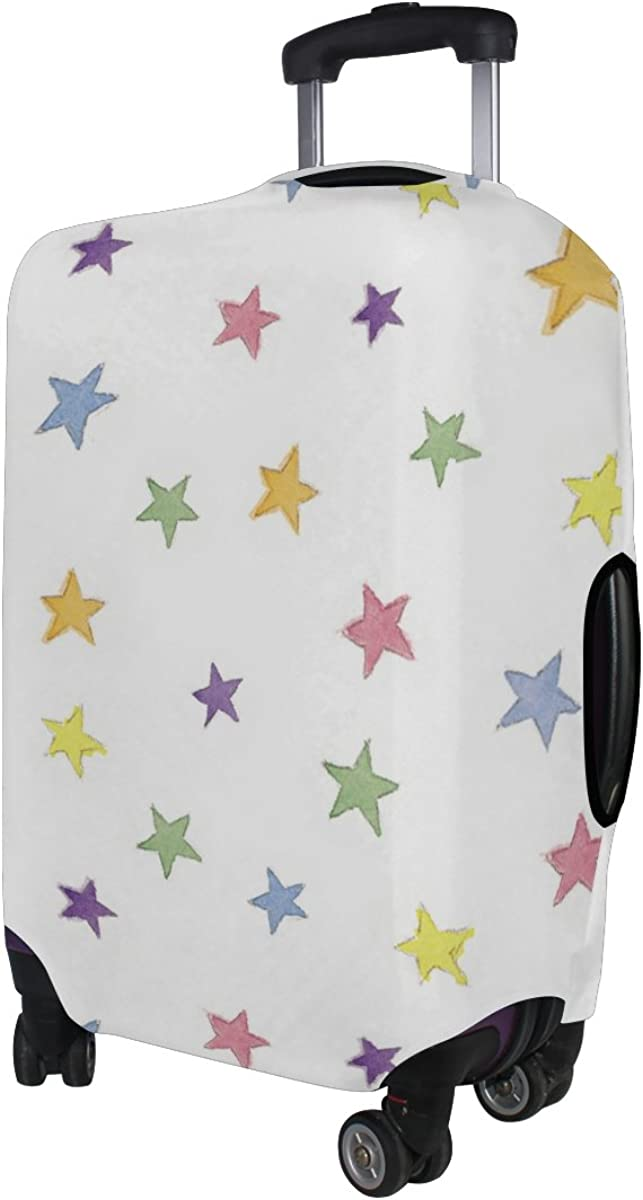 LAVOVO Watercolor Rainbow Stars Luggage Cover Suitcase Protector Carry On Covers