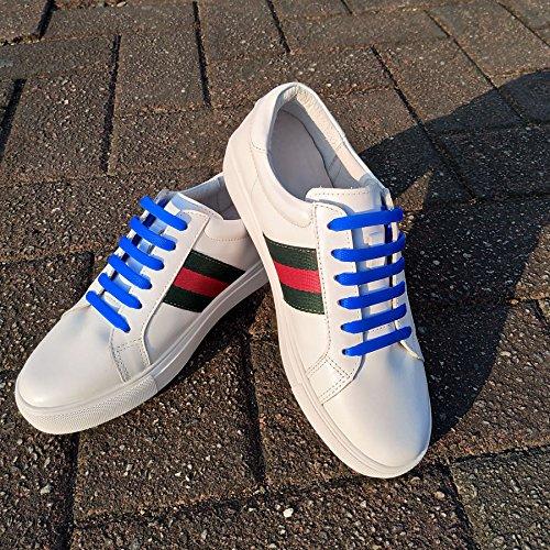 Lacci Scarpe Elastici, Elastico Silicone Scarpe  No Tie Lacci für Trainer, Sportschuhe Sneakers Schuhe Running Schuhe Board Schuhe Stiefel Schuhe und Casual Schuhe von NWSS (blu)