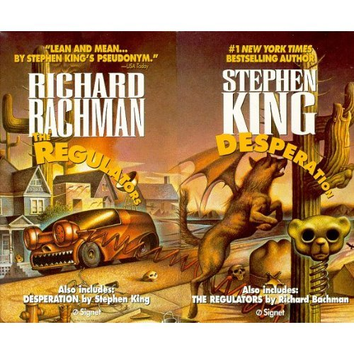 Stephen King, Desperation and Regulators, 2 Book Crossover Combo, May Be Paperback or Hardcover.