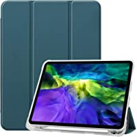 JJSFJH For iPad Pro 12.9 (2020) 2018 New iPad Pro 11 (2020) 2018 Soft Clear TPU Back Cover with Apple Pencil holder…