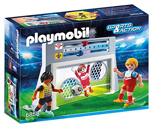 Action Soccer Goal - Playmobil 6858 Sports and Action Soccer Shooting Practice Playset with 2 Players