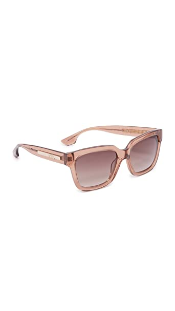 One Mcqueen Pinkbrown Sunglasses Women's Square Alexander Mcq xf10ngw