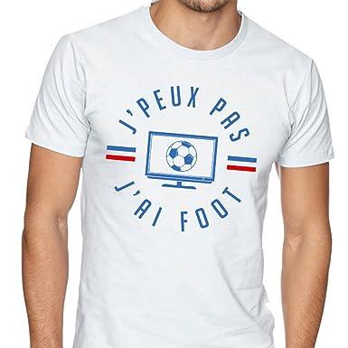 J Peux Pas J Ai Foot Blanc T Shirt Football Humour Fete Des