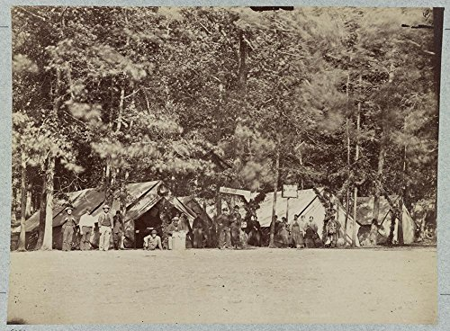 Historic Photos U.S. Cristian (i.e. Christian) Commission at Gettysburg General Hospital, August, 1863 by Historic Photos