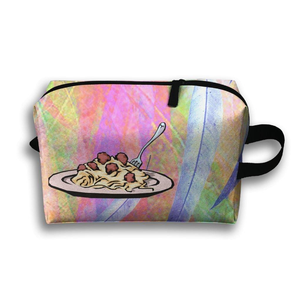 I Love Spaghetti Italian Pasta Travel Bag Multifunction Portable Toiletry Bag Organizer Storage