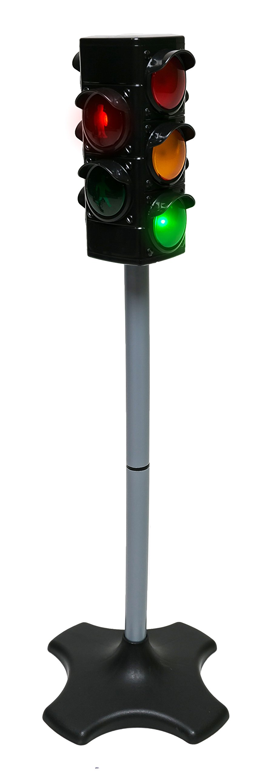 MMP Living Toy Traffic & Crosswalk Signal with Light & Sound - 4 Sided, Over 2 feet Tall by MMP Living (Image #1)
