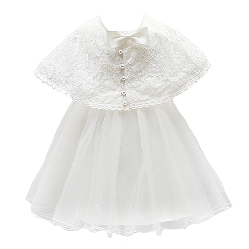Baby Girl Dress Christening Baptism Gowns Lace Formal Dress Moon Kitty