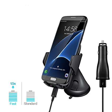 Para Samsung Galaxy S8/S8 Plus - Sannysis Cargador Qi ...