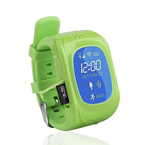 Reloj para Niños,Corelink Reloj Infantil Pulsera Inteligente Reloj GPS localizador led pantalla Smartwatch Compatible