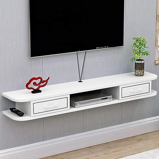 Estante Flotante plataforma de televisión en la pared televisión ...