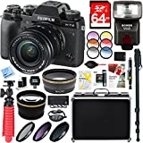 Fujifilm X-T2 24.3MP 4K Video OLED Viewfinder Mirrorless Digital Camera with 18-55mm Lens + 64GB Memory & Flash Accessory Bundle