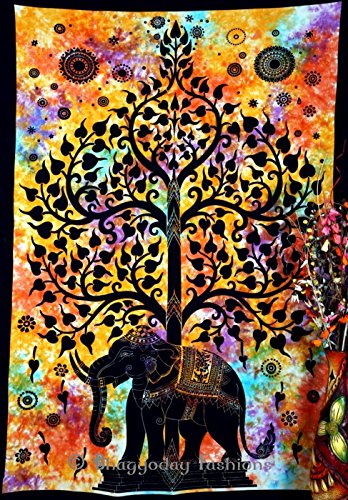 10 opinioni per Handicrunch Indian Psychedelic Celestial Elephant Tree Of Life Tapestry ,Good