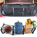 Kitchen Bar Divider Cargo Net Three Pocket Mesh Storage Net - Car Trunk Cargo Organizer-Universal Stretchable Trunk Cargo Net