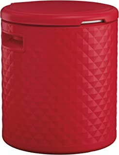 product image for Suncast Resin Cooler Side Table with Removable Liner - Lightweight Outdoor Patio Cooler with 54 Qt. Capacity - Backyard Decor for Storing Beverages, Bottles and Cans - Red