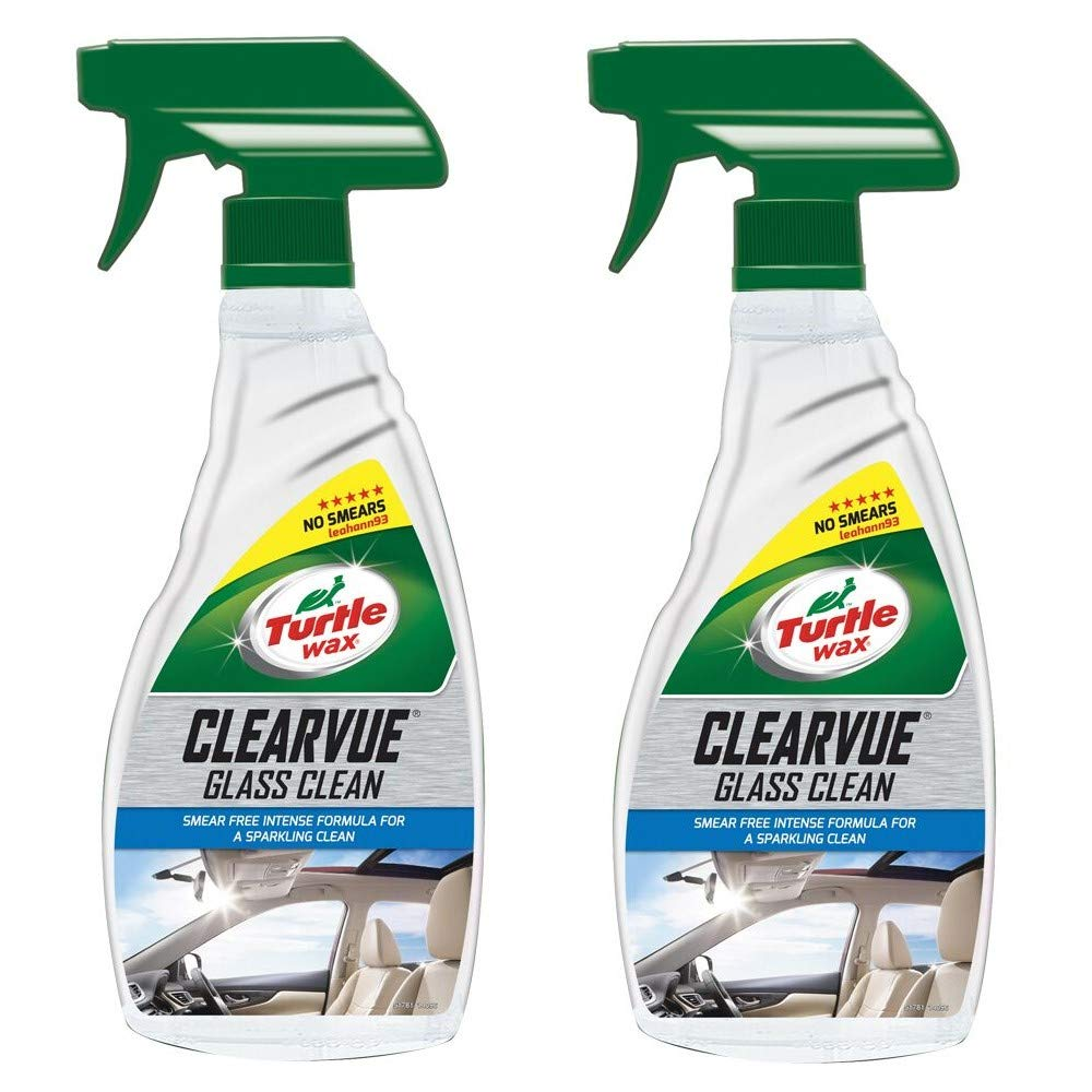 Turtle Wax 51781 Clearvue Car Glass Window Cleaner Smear Free (2 x 500ml)