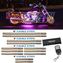LEDGlow 12pc Pink LED Flexible Motorcycle Light Kit