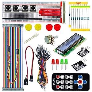 Tolako Starter Kit for Raspberry Pi B+ 2/3 Starter Kit GPIO Pinboard 1602LCD Flat Cable Remote Control