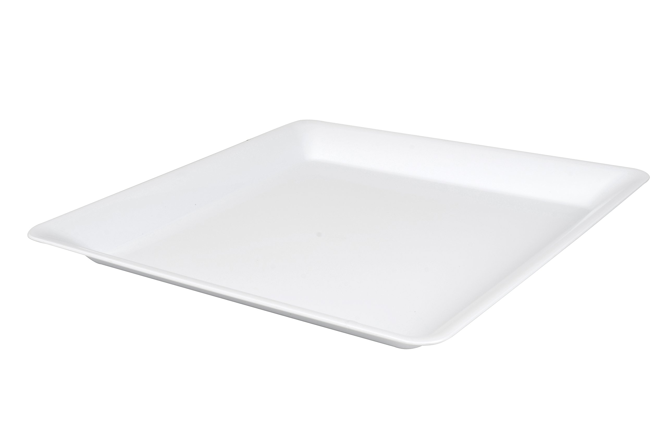 Fineline 3581-WH 18'' x 18'' Square Tray (Case of 20)
