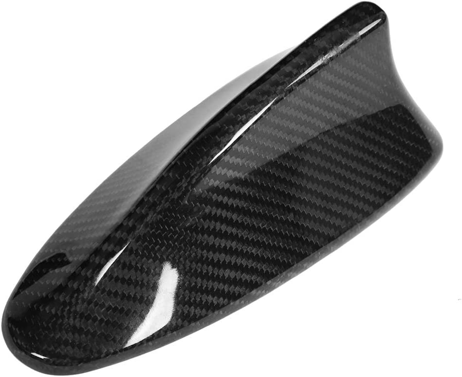 Antenna Shark Cover,Car Carbon Fiber Antenna Shark Fin Cover Trim Fitment for BMW F10 F11 F18 F01 F02 M5