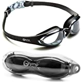 Swim Goggles, Swimming Goggles Anti Fog UV Protection Waterproof No Leaking Triathlon Swim Goggles with Free Protection Case for Adult Men Women Youth Teens