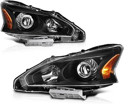 Halogen Head Lamp Assembly Set of 2 Pair LH /& RH Side Fits Nissan Altima Sedan