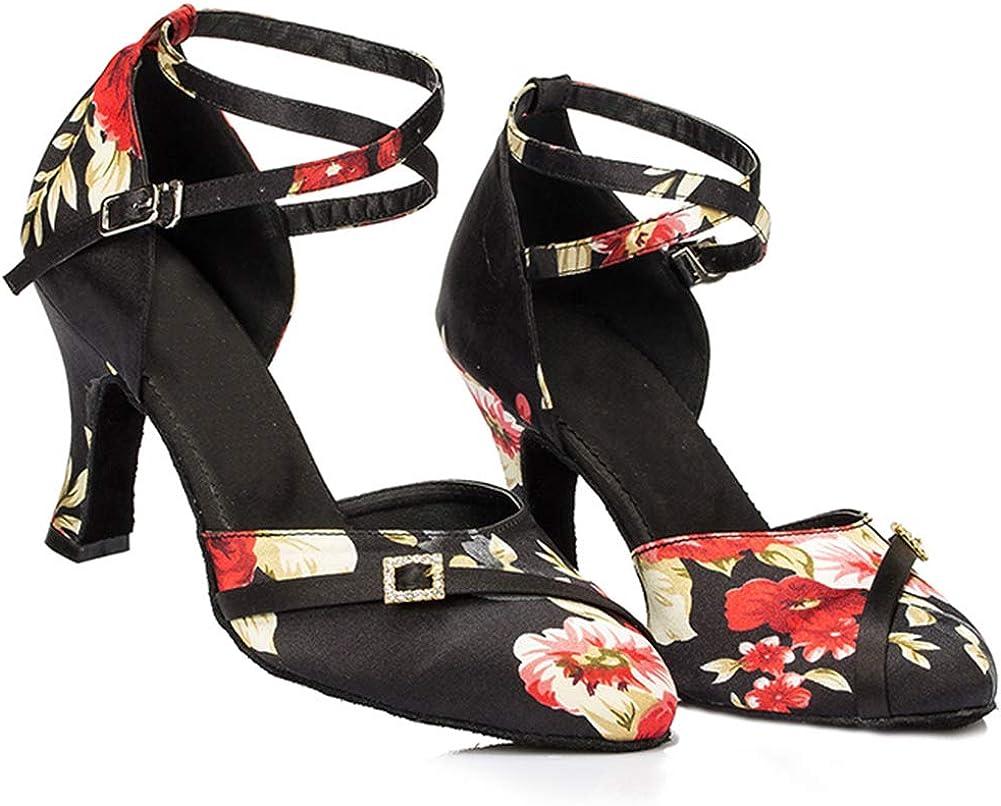 SWDZM Chaussures de Danse Femme Standard Latin Jazz Ballet Chaussures Satin Model-FR-DC-516