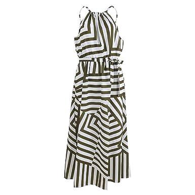 dc389f7b77b Women Sexy Summer Dress Boho Maxi Long Evening Party Dress Beach Dress  Sundress Army Green S