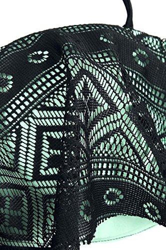 Full Volume by EMP Flounce Bandeau Bikini Biquini negro/menta negro/menta