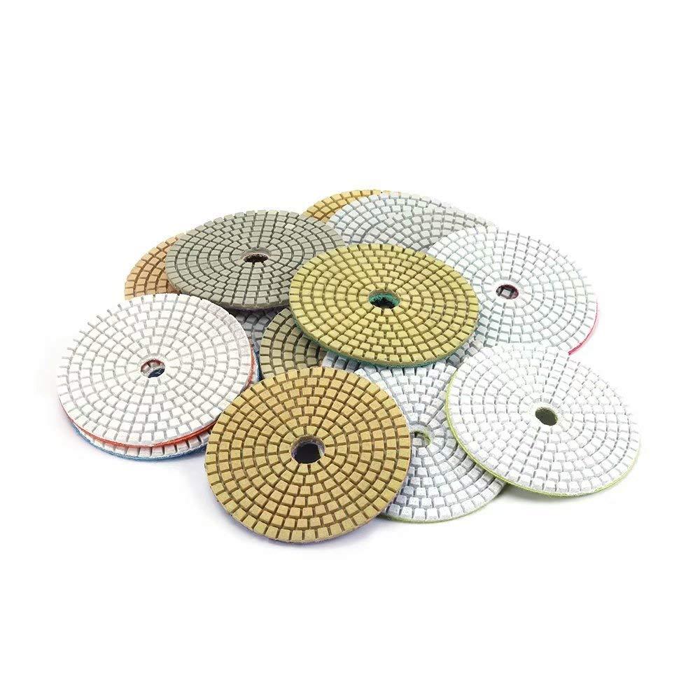 Diamond Polishing Pads 4 inch 1Pc Wet Buffing Pad Sets for Stone Marble Granite Glass Travertine Concrete Polishing 400#