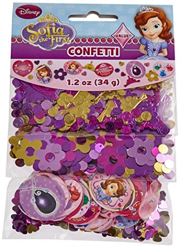 Amscan Disney Sofia The First Princess Birthday Party Confetti Decoration (1 Piece), Multi Color, 1.2 Oz. Supplies (12) ()
