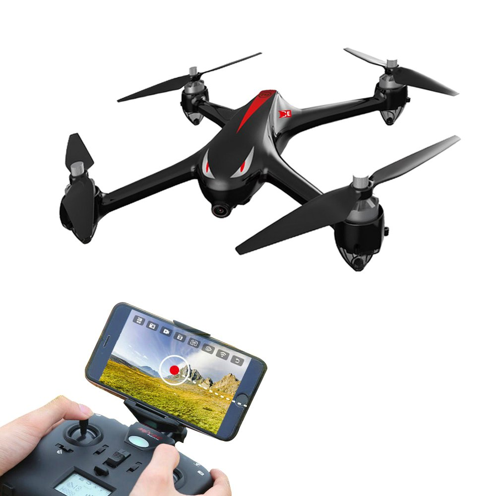 LOHOME B2W Bugs 2 W RC Quadcopter - 2.4GHz 6-Axis Gyro 1080P HD 5G Wifi Camera FPV Drone Remote Control Drone Folding Aircraft - Black