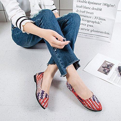 Mixtes Assez Couleurs Vovotrade De Plat Femmes Printemps Fille 39 Femmes Rouge Vert Souliers Chaussures Pour wrvXvI