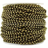 CleverDelights Ball Chain Roll - 30 Feet - Antique Bronze Color - 2.4mm Ball - #3 Size by CleverDelights