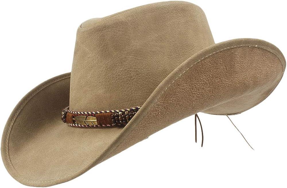 LLPBUA-HAT Leather Western...