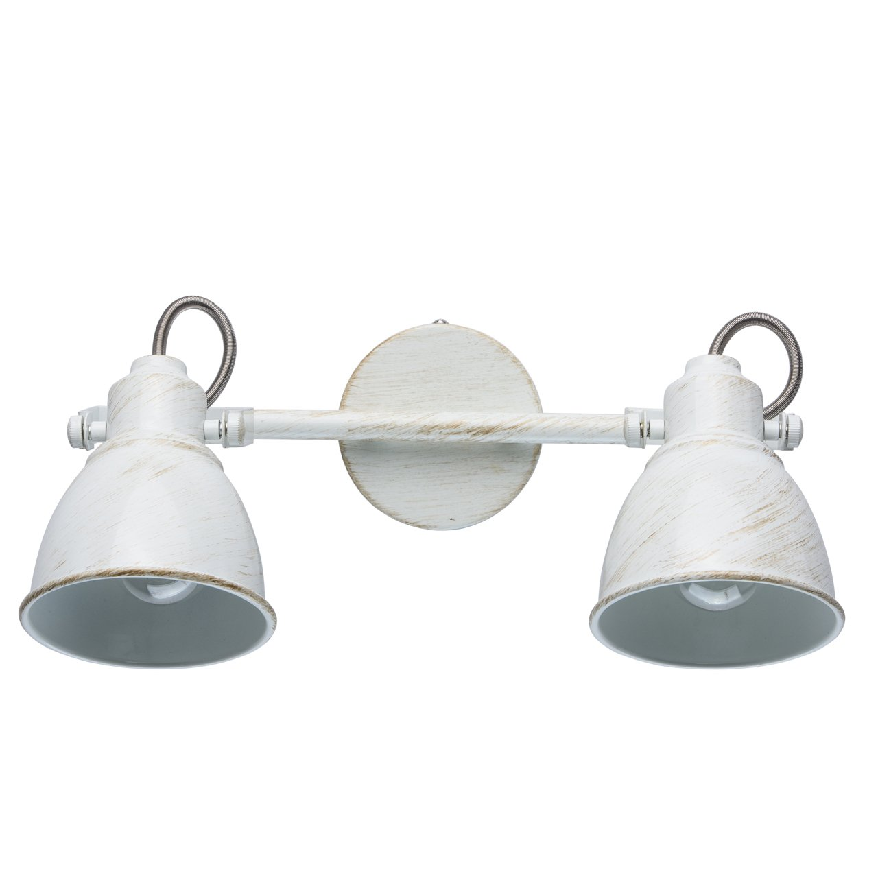 Spotbalken 2-flammig MW-Light 547021002 Retro Wandleuchte Wandspot 2 Flammig Weiß Kompakt E14 40W
