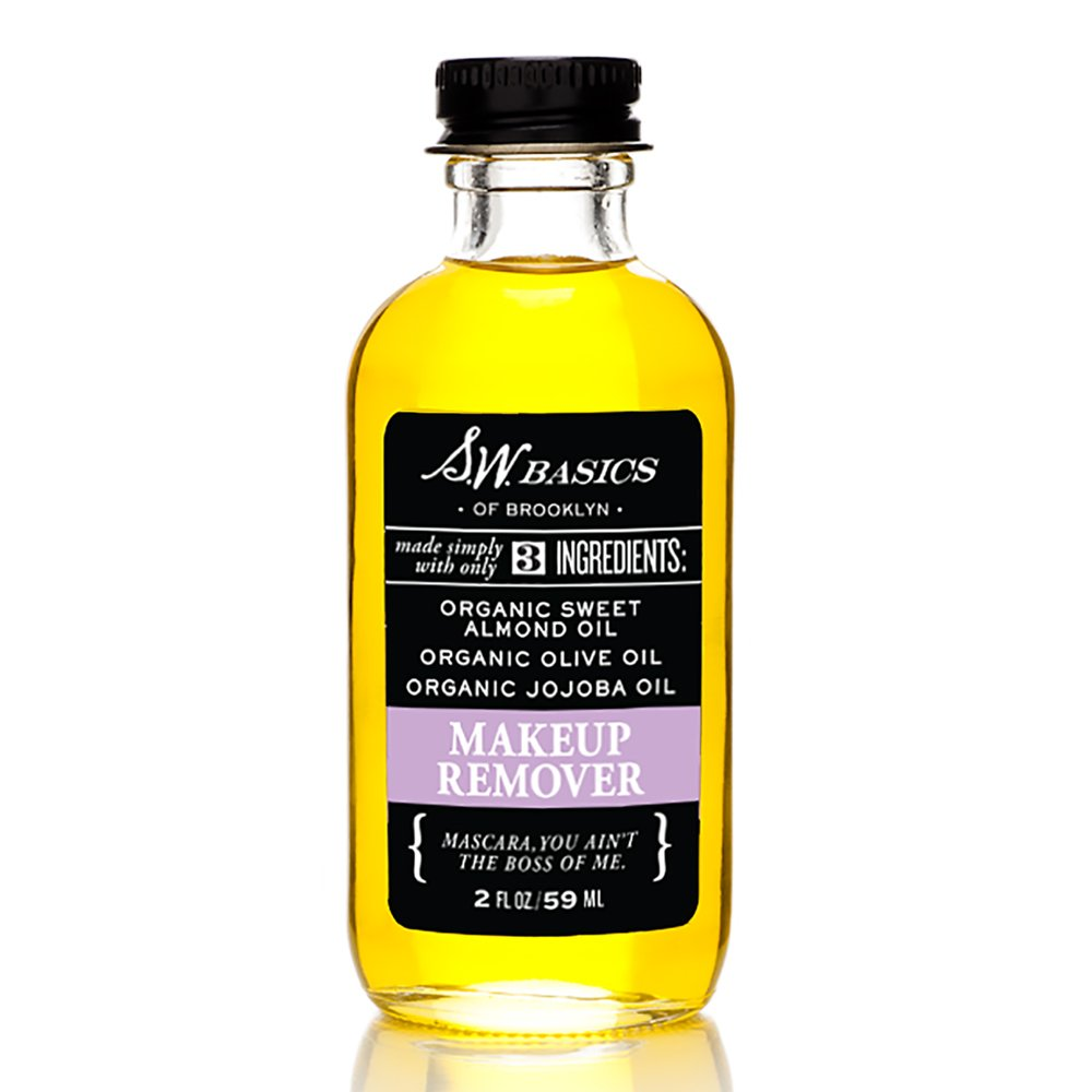 S.W. Basics Makeup Remover, Organic, Natural, and Gentle, Made with Sweet Almond, Olive, and Jojoba Oils, 2.0 fl oz