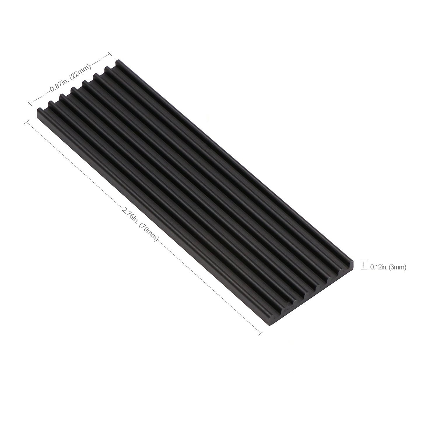 Aluminum Heatsinks for PCIe NVMe M.2 2280 SSD with Silicone Thermal Pad, DIY Laptop PC Memory Cooling Fin Radiation Dissipate (Ordinary Edition) by Angel mall (Image #2)