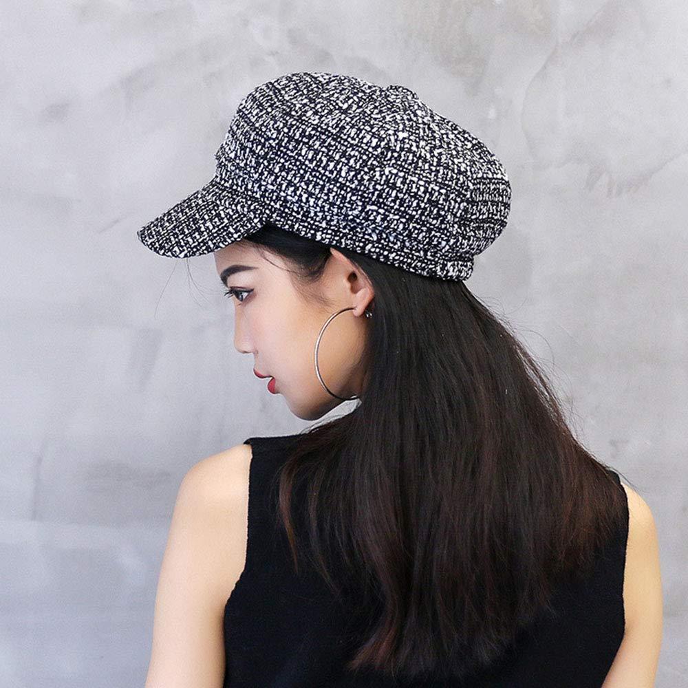 Aisa Men Women Winter Woolen Knitted Beret Painter Hat Newsboy Cap