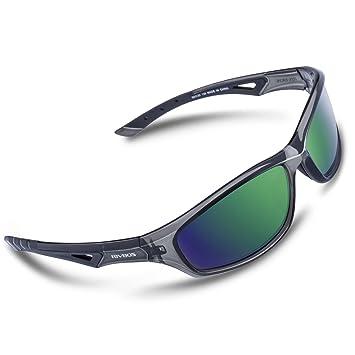 RIVBOS Gafas de sol polarizadas para deporte, ciclismo, para hombres, mujeres, deportes