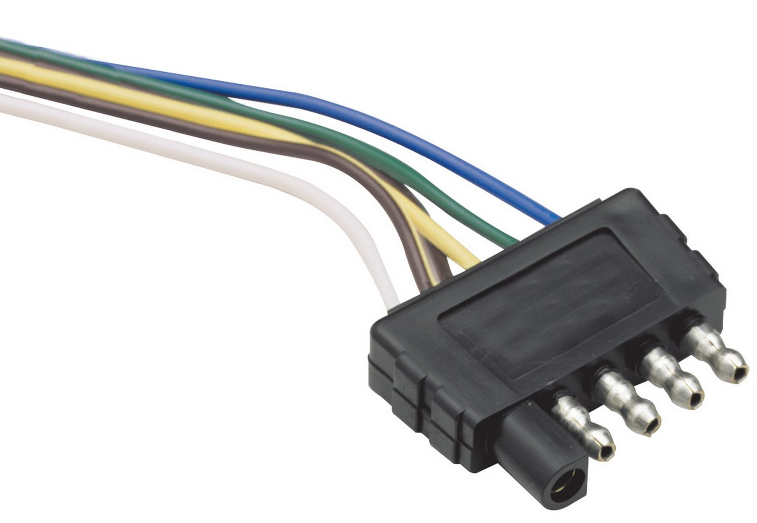 61U8 cIQMQL._SL1500_ amazon com reese towpower 85214 5 way flat connector automotive 5 way flat trailer plug wiring diagram at crackthecode.co