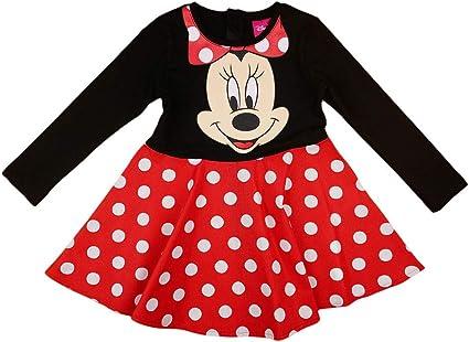 Disney Baby M/ädchen Lang-arm Freizeit-Kleid mit sch/önem Rock mit Minnie Mouse in Gr 74 80 86 92 98 104 110 116 122,1 2 3 4 5 6 7 Jahre