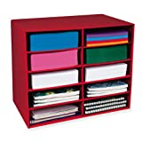 Classroom Keepers 10-Shelf Organizer, Red